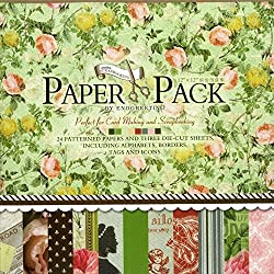 Craftdev Set Of 24 Thick Beautiful Pattern Design Printed Papers Size: 12 X 12 Inch - 12 Designs