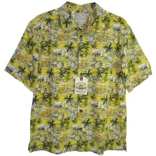Margaritaville Men'S Venice BBQ Shirt, Misted Yellow, X-Large