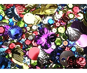 Crafkit® Quality Assorted Sequins Pack - 120g
