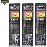 Mohan® Incense Khush Scents Pack 250 Sticks (9.2 Inches Tall) - Makers of the World Famous Khush (Kush) Scent - Premium Pure Charcoal Incense Hand Rolled in the Finest Herbs, Spices, Oils, Honey, and Sandalwood Powder
