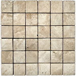 Travertine Tile Mosaic Natural Stone Flooring Wall Backsplash