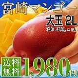 送料無料 宮崎産 秀品 完熟マンゴー 大玉 2L 1玉 (約330~380g) ランキングお取り寄せ