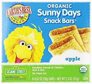 Earth's Best Organic Sunny Days Snack Bars, Apple, 5.3 Ounce (Pack of 6)