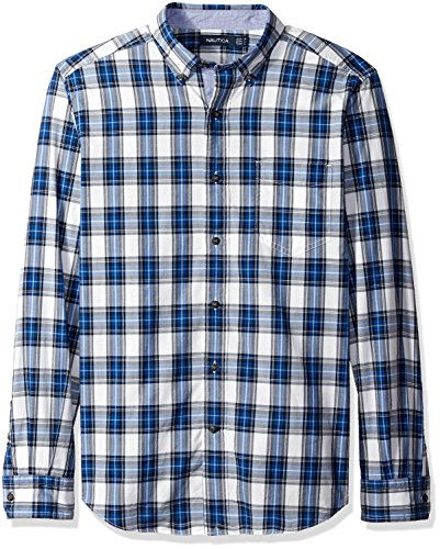 nautica-mens-classic-fit-plaid-shirt-breakwater-blue-xl