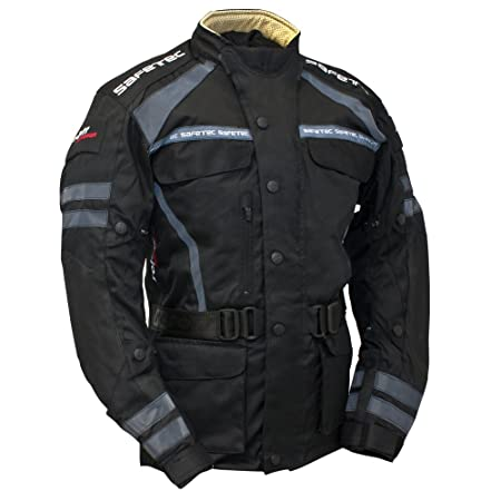 Roleff Racewear 9503 Blouson Moto Textile Safetec, Noir, M