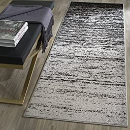 Safavieh Adirondack Collection ADR113A Silver and Black Runner, 2 feet 6 inches by 6 feet (2\'6\