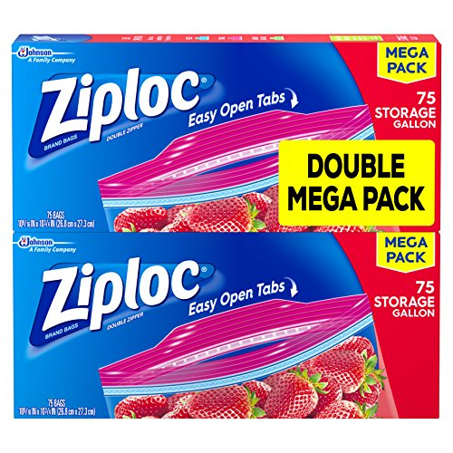 Ziploc Storage Bags Gallon Mega Pack, 150 Count (Ziploc Gallon Bags Freezer compare prices)