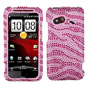 Asmyna HTCADR6410HPCDM045NP Dazzling Luxurious Bling Case for HTC Droid Incredible 4G LTE ADR6410 - 1 Pack - Retail Packaging - Pink/Hot Pink