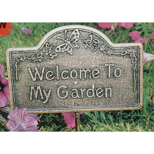 Oakland Living Decorative Garden Marker, Welcome to My Garden, Antique Bronze picture