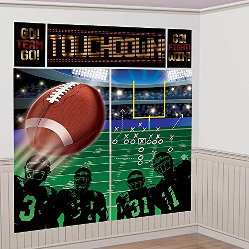 football Happy Birthday Wall Decorating Scene Setter Kit