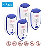 GOSTAR Ultrasonic Pest Repeller Set of 4 Electronic Control Mice Repellent Plug in Home Indoor with Led Night Light, Non-toxic Eco-friendly, Humans/Pets Sa