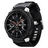 Spigen Liquid Air Armor Designed for Samsung Galaxy Watch Case 46mm (2018) / Designed for Samsung Gear S3 Frontier Case (2017) / Smartwatch Case - Black (Color: Black)