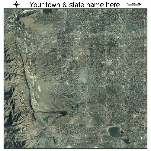 Aerial Photography Map of Lakewood, Colorado 2005
