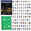 Master Airbrush Self-Adhesive Reusable Temporary Tattoo Booklet#20 with 100 Stencils
