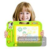 Magnetic Drawing Board ,Portable Magna Graffiti erases Children's Toys,Green (Color: Green, Tamaño: Magnetic Drawing Board)