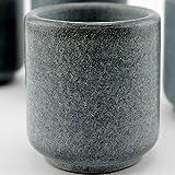 Teroforma Set of 4 Grey 2oz. Soapstone Ekke Shot Glasses