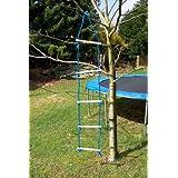 Strickleiter Seilleiter 5 Holzsprossen Kletterleiter