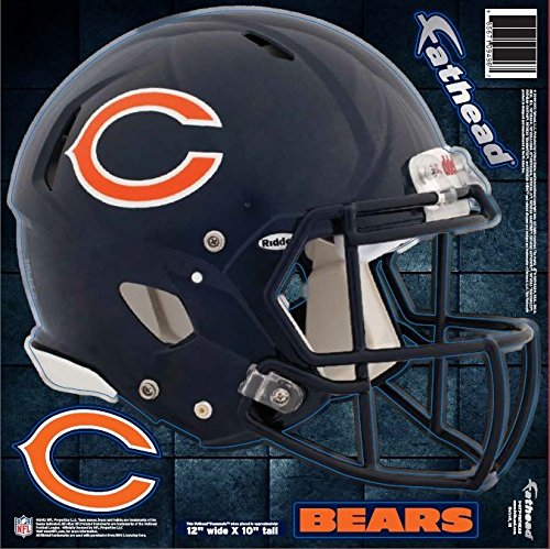 NFL Chicago Bears Fathead Helmet Decal (Football Helmets For Sale compare prices)