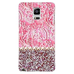 Jugaaduu Pearl Pink Back Cover Case For Samsung Galaxy Note 4