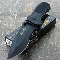 TAC FORCE BLACK TACTICAL Pocket Knife Folding Blade NEW!