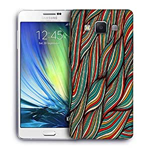 Snoogg vector hand drawn waves texture Designer Protective Back Case Cover For Samsung Galaxy A7