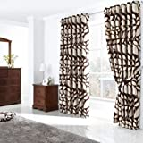 London Leaf Ring Top Curtains 90