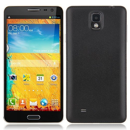 Star N8000 Smartphone Android 4.2 MTK6582/MTK6589 Quad Core 5.5 Inch 1GB 4GB 3G OTG (Black) Black Friday & Cyber Monday 2014