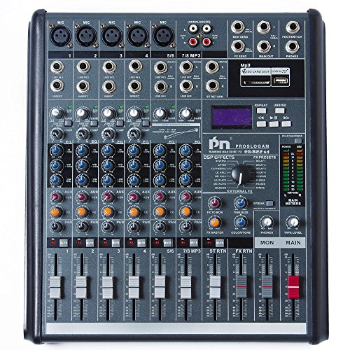 Proslogan EG-822SD Professional Mixing Console with DSP Effects (Audio Engine Studio Monitors compare prices)