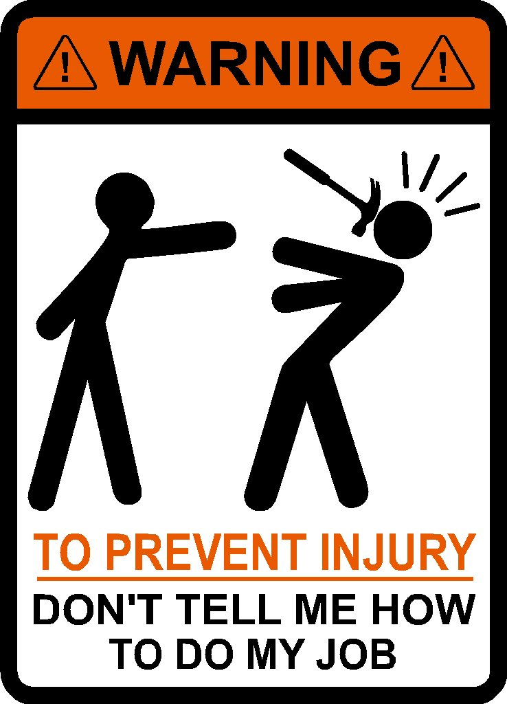 To Avoid Injury Sign: Funny Office Sign to Hang Outside Your Cube!