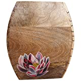 Jodhpur Summers Wooden Flower Pot (Brown, 12 X 4 X 14 Inches)