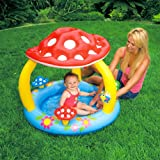 Intex Baby Toddler Childs Mushroom Inflatable Swimming Paddling Pool Toy Sunshade