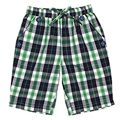 ShopperTree Boys' Regular Fit Shorts (ST-1647_5-6Y, Green , 5 to 6 Years)
