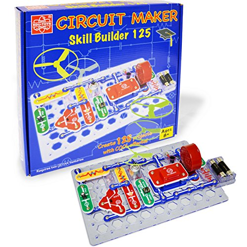 Elenco  Circuit Maker 125 Skill Builder Electronics Discovery Kit (Electronic Maker compare prices)