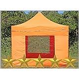 Faltzelt Faltpavillon 3x3m 3x3m Orange mit 4 Seitenteilen Partyzelt Pavillon Verkaufszelt wasserdicht