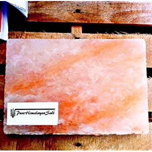 Himalayan Salt Tile 12x8x2 weighing over16 Lbs Gourmet FDA for Grilling Cooking Serving FDA Gourmet Organic and Pure
