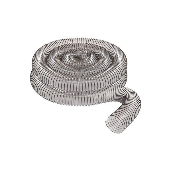 2 1/2 x 20' CLEAR PVC DUST COLLECTION HOSE BY PEACHTREE WOODWORKING PW368