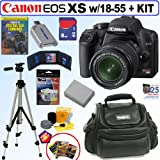Canon Rebel XS 10.1MP Digital SLR Camera (Black) with EF-S 18-55mm f/3.5-5.6 IS Lens + 8GB Deluxe Accessory Kit Reviews