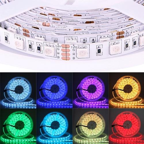 Home Useful 5M 5050 Smd Rgb 300 Led Led Light Strip 44Key Ir Remote + 5A Power Supply