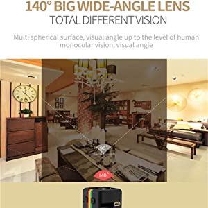 Hidden Spy Camera 1080P Mini Security Wireless cam with Night Vision, Video Recorder for Home, Office and Outdoor Use(SQ11)