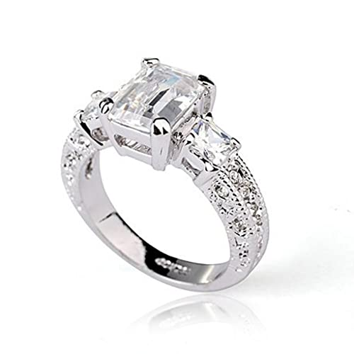 Fashion-Plaza-18k-White-Gold-Plated-Use-Austrian-Crystal-Engagement-Wedding-Spark-Ring-R23