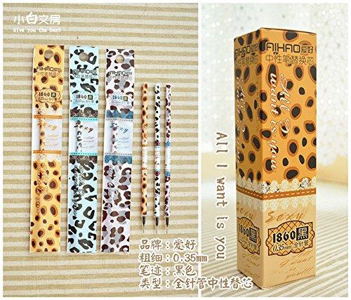 Lot de 20 Wild Leopard noir Recharges stylo bille, pointe Extra Fine 0,35 mm