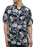(ルーシャット) ROUSHATTE アロハシャツ 半袖 大きいサイズ シャツ レーヨン ハイビスカス 10color 3L 柄5