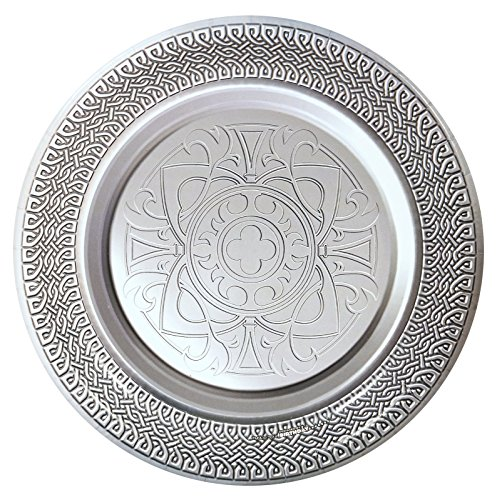 Goth Feast Silver Medieval Dinner Plates (8)