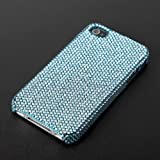 CAZE SIMPLE - Crystal case for iPhone 4 - Blue 【高級スワロフスキーケース】