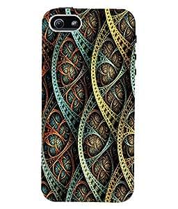 Fuson 3D Printed Pattern Designer Back Case Cover for Apple iPhone 5S - D1104