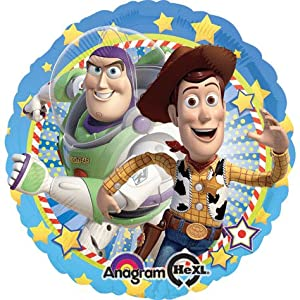 Anagram International HX Woody And Buzz Packaged Party Balloon, Multicolor