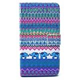 UNEXTATI Galaxy Note 3 Case, Colorful Wallet Case + Black Protect Cover for Samsung Galaxy Note3, Leather Case with Card-Slot, Kickstand, Magnet Clip (Elephant #2, Blue?