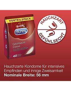 Durex Gefühlsecht Kondome 40x 18,16e 0,45e-St.