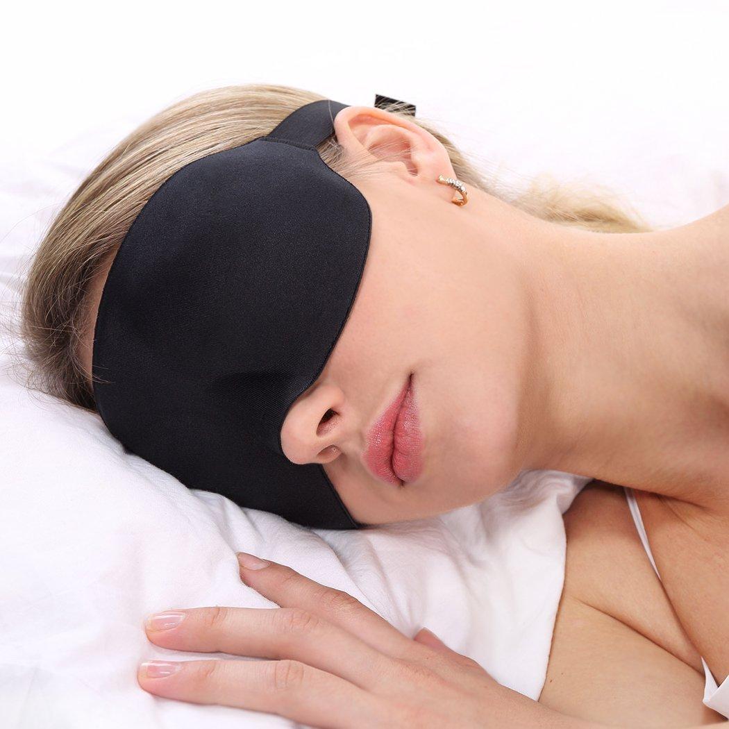 PLEMO EM-451立体型睡眠アイマスク 軽量・究極の柔らかシルク質感 睡眠、旅行に最適 (フリーサイズ)