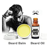 Beard Grow | Facial Hair Supplement | #1 Mens Hair Growth Vitamins | For Thicker and Fuller Beard | Beard Balm | 20ml Men's Beard Fluid+30g Beard Wax Set (colorful)